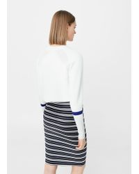 Mango - Blue Fitted Skirt - Lyst
