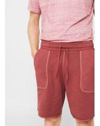 Mango   Orange Textured Cotton-blend Bermuda Shorts for Men   Lyst