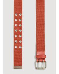 Mango - Orange Metal Appliqué Belt - Lyst