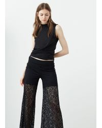 Mango | Black Printed Baggy Trousers | Lyst