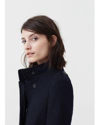 Mango - Blue Belt Wool Coat - Lyst