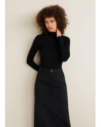 Mango Black Belt Long Skirt