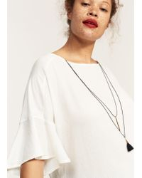 Violeta by Mango | White Necklace T-shirt | Lyst