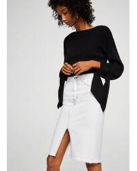 Mango White Skirt