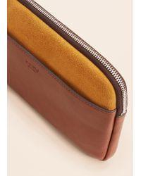 Violeta by Mango Brown Bicolor Cosmetic Bag