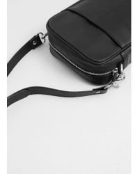 Mango - Black Cross-body Pebbled Bag for Men - Lyst