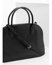 Mango - Black Saffiano-effect Cross-body Bag - Lyst