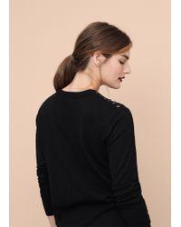 Violeta by Mango - Black Braided Cord Sweater - Lyst