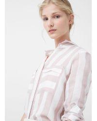 Mango - Multicolor Printed Flowy Shirt - Lyst