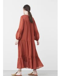 Mango Multicolor Embroidered Long Dress