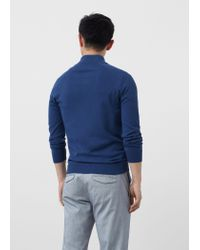 Mango - Blue Cotton Cashmere-blend Cardigan for Men - Lyst