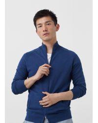 Mango | Blue Cotton Cashmere-blend Cardigan for Men | Lyst