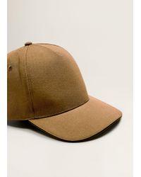 Mango Brown Cotton Baseball Cap for men