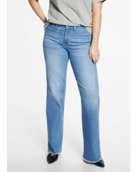 Violeta by Mango - Blue Flared Jeans - Lyst