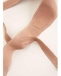 Mango - Multicolor Leather Obi Belt - Lyst
