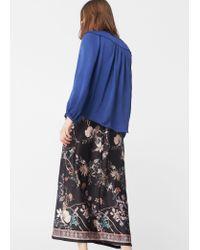 Mango | Blue Braided Cord Blouse | Lyst