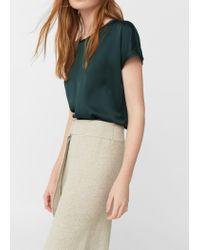 Mango | Green Flowy T-shirt | Lyst