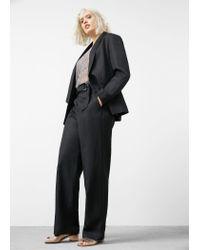 Violeta by Mango | Black Linen Cotton-blend Blazer | Lyst