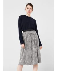 Mango | Metallic Pleated Skirt | Lyst