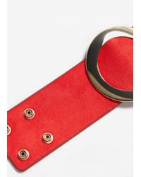 Mango | Red Metal Appliqué Bracelet | Lyst