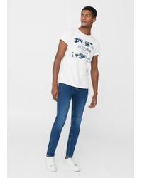 Mango | White Logo Cotton T-shirt | Lyst