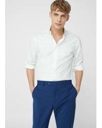 Mango | White Slim-fit Tailored Cotton Shirt for Men | Lyst