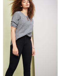 Violeta by Mango   Black Slim-fit Julie Jeans   Lyst
