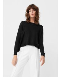 Mango   Black Decorative Button Sweater   Lyst