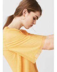 Mango - Multicolor Tulle T-shirt - Lyst