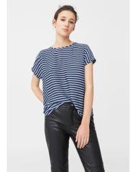 Mango | Blue Printed T-shirt | Lyst