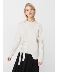 Mango | Multicolor Bow Wrapped Sweater | Lyst