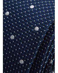 Mango - Blue Polka-dot Silk Tie for Men - Lyst
