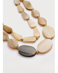 Violeta by Mango | Natural Beaded Double Necklace | Lyst