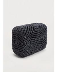 Violeta by Mango | Black Party Box Clutch | Lyst