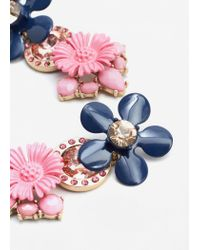 Mango - Multicolor Flower Pendant Earrings - Lyst