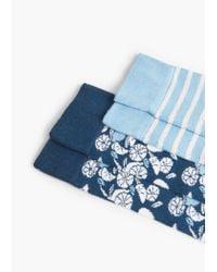 Mango   Blue 2 Pack Patterned Socks   Lyst