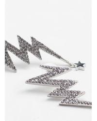 Mango - Metallic Faceted Crystal Earring - Lyst