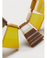 Violeta by Mango | Yellow Mixed Piece Necklace | Lyst
