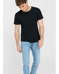 Mango | Black Essential Cotton T-shirt for Men | Lyst