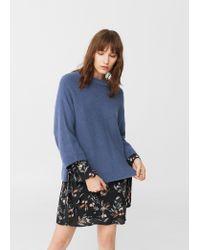 Mango - Blue Wool-blend Sweater - Lyst