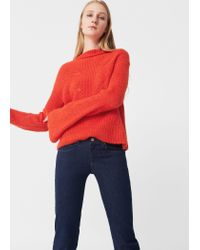 Mango | Red Openwork Knit Sweater | Lyst