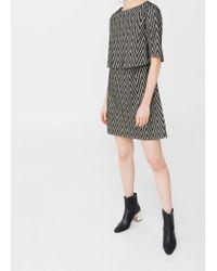 Mango | Black Metallic Thread Dress | Lyst