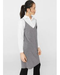 Mango | Metallic Thread Dress | Lyst