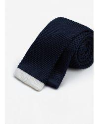 Mango | Blue Textured Knit Tie for Men | Lyst