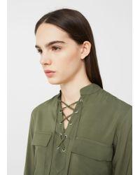 Mango | Green Braided Cord Blouse | Lyst