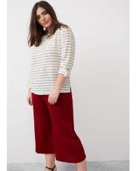 Violeta by Mango | Multicolor Textured Striped Sweatshirt | Lyst