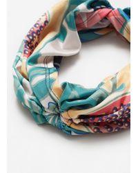 Mango - Blue Printed Headband - Lyst