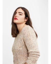 Violeta by Mango | Natural Flecked Linen-blend Sweater | Lyst