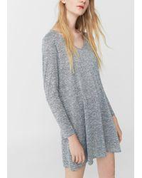 Mango | Gray Flecked Dress | Lyst