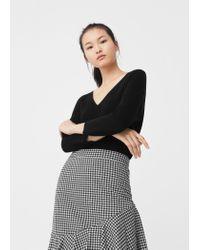 Mango | Black Fine-knit Sweater | Lyst